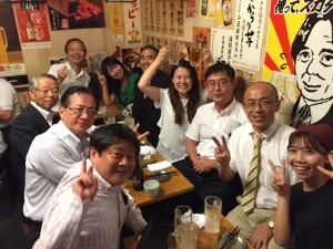 野口賢次先生、奈良恒則先生を囲んだ懇親会